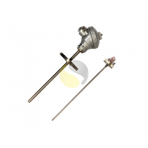 Flanged Thermowell RTD Sensor Assembly