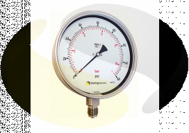 Stainless Steel 160mm Pressure Gauge