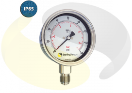 Stainless Steel 100mm Pressure Gauge