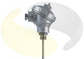 Mineral Insulated Thermocouple with Standard (KNE) Head and Process Fitting
