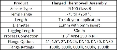 Industrial RTD Sensor Assembly (Pt100)