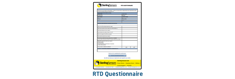 Editable form designed to assist in selecting a Pt100