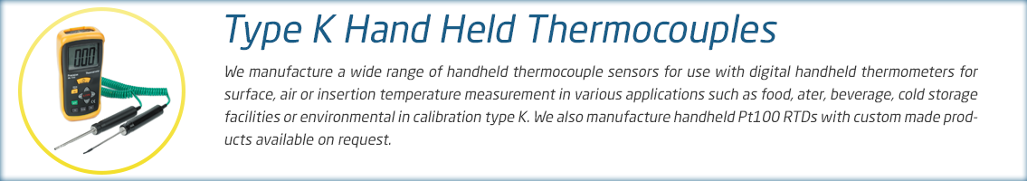 Hand Held Thermocouple Range