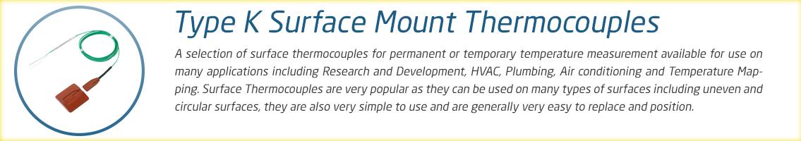 Surface Mount Thermocouple Range